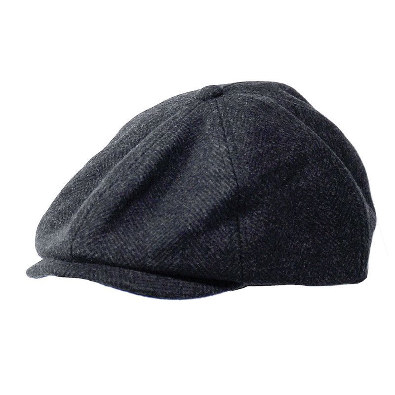 2019 Winter Woolen Octagonal Dad Peaked Cap Big Head Man Newsboy Hat Men Plus Size Felt Beret Caps 54-56cm 58-61cm