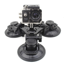 SOONSUN Accessories for GoPro Car Window Triple Sucker Suction Cup Mount for Go Pro Hero9 8 7 6 5 4 3 For DJI Osmo Action For Yi
