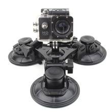 SOONSUN accesorios para GoPro, montaje de ventosa de succión Triple para ventana de coche, para Go Pro Hero9 8 7 6 5 4 3 para DJI Osmo Action para Yi