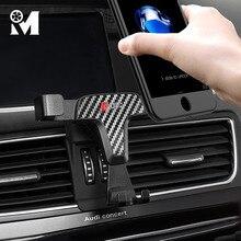 Montaje de teléfono de coche ABS, soporte de móvil con imán de ventilación para Audi A3, 8V, A4, B9, A5, A6, C7, Q3, Q5, accesorios interiores
