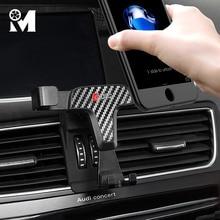 自動車電話マウントabs gps携帯ホルダーマグネット携帯用スタンドアウディA3 8v A4 B9 A5 A6 c7 Q3 Q5 でインテリアアクセサリー