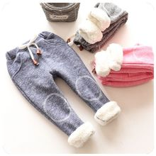 2017 Spring Boys Casual Trousers Baby Girls Thick Plus Velvet harem Pants children clothes Kids Girl Winter Warm Tracksuit Pants