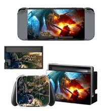 Monster Hunter Decal Vinyl Skin Protector Sticker for Nintendo Switch NS Console +Controller + Stand Holder Protective Film monster hunter stories nintendo 3ds
