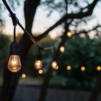 MengJay водонепроницаемый 10 м 33ft 10 головок E27 40 Вт струнный подвесной светильник для садовых пор Пергола Открытый Декор Ретро настенный светиль...