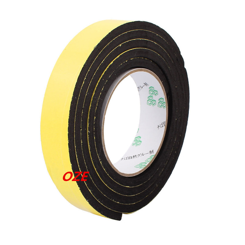 1PCS Single Sided Self Adhesive Shockproof Sponge Foam Tape 2M Length 25mm x 6mm 12 x 10mm single sided self adhesive shockproof sponge foam tape 2m length