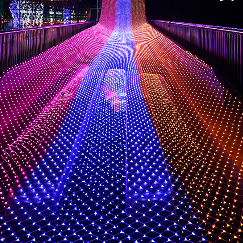 1x10m 480leds 8 Modes 220V Net LED String Light Festival Christmas Decoration New Year Wedding Ceremony Waterproof