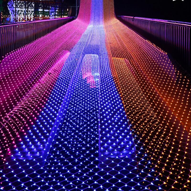 1x10m 480leds 8 Modes 220V Net LED String Light Festival Christmas Decoration New Year Wedding Ceremony Waterproof
