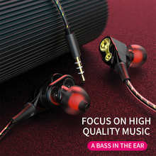 Earphone Wired In-ear Dual-action-coil Wire-controlled Game Applicable to Apple Android Mobile Phone