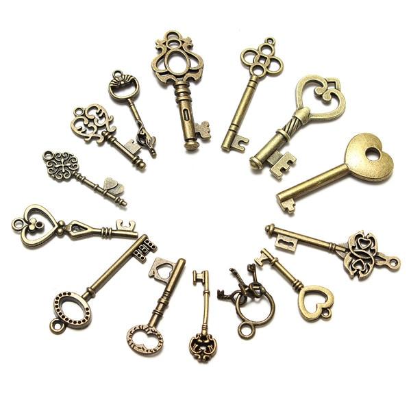Online buy wholesale skeleton key from china skeleton key for Antique looking keys