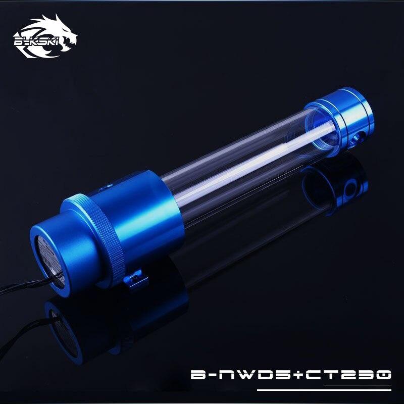 Bykski 18 W D5 Combo pompe + réservoir Maximum 5000 tr/min/débit ascenseur 3.8 mètre/1100L/H cylindre d'eau longueur du réservoir 120/170/230mm