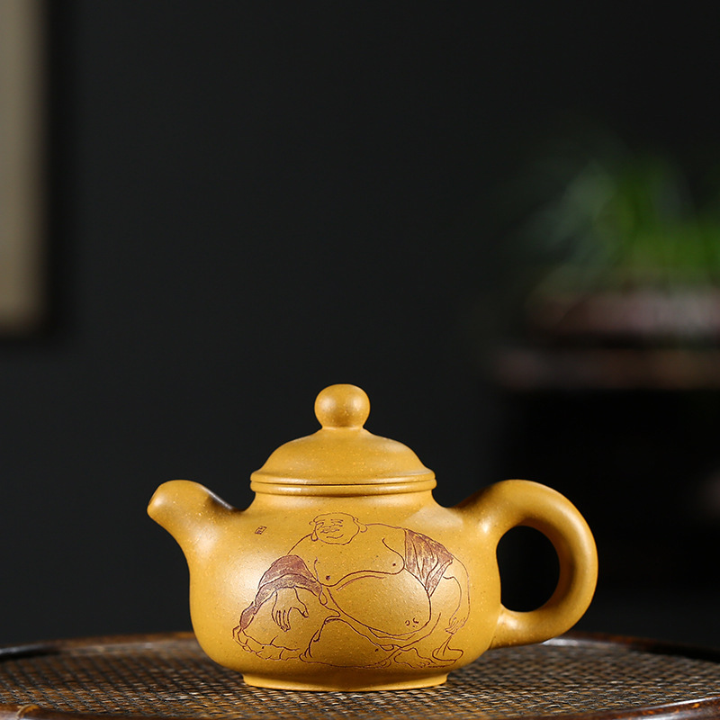 Earnest Authentic Yixing Purple Clay Pots Kungfu Teapots Gold Mud Big Fopan Pots Tea Sets And Gifts All Hand-made Raw Ore