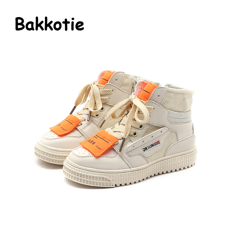 Bakkotie 2018 Autumn New Fashion Baby Girl Canvas Shoes Kid High Sneakers Children Soft Black Casual Shoes Boy Ankle Brand Shoes bakkotie 2018 spring fashion baby boy mesh shoes children casual sneakers kid black sport shoes girl slip on shoes trainer