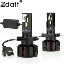 Zdatt Car Led Light H4 H1 H7 Led Bulb H8 H9 H11 9005 HB3 9006 HB4 Headlights Canbus 100W 12000LM 12V 6000K Automobiles Auto Lamp цены онлайн