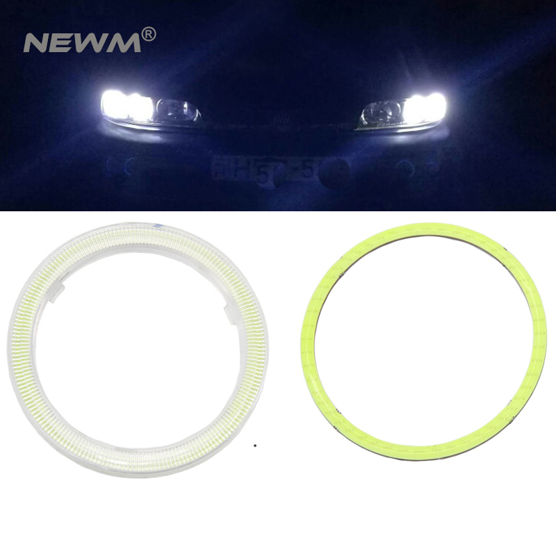 1 pair Car Angel Eyes Led Car Halo Ring Lights Led Angel Eyes Headlight for Car Auto Moto Moped Scooter Motorcycle DC 12V 3W 2pcs 2017 new design 7 inch 40w motorcycle led auto angel eyes led headlight bulb with high quality