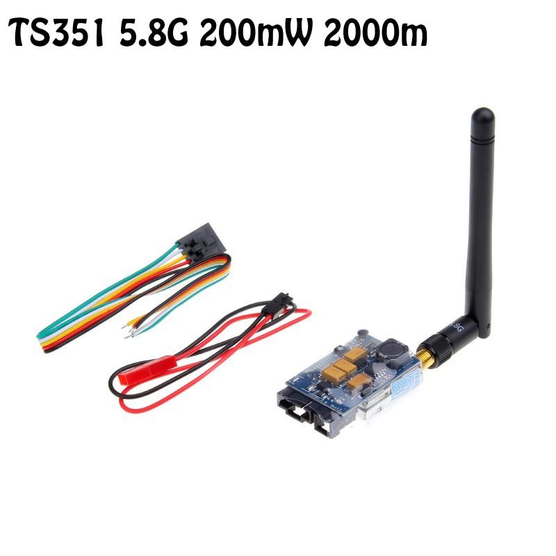 OCDAY Boscam FPV TX TS351 5.8G 200mW AV Audio Video Transmitter Sender 2.0Km 2000m Range 5.8 ghz 5705-5945MHz 2 4ghz 200mw wireless video transmitter transmit range 400m fpv transmitter uav video link cctv av sender