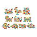 Hot! 26 Carta Do Bebê Crianças Brinquedo De Madeira Quebra-cabeças de Animais Crianças Inteligência Educação Aprender Ferramentas 10 Patten Opções Nova Venda