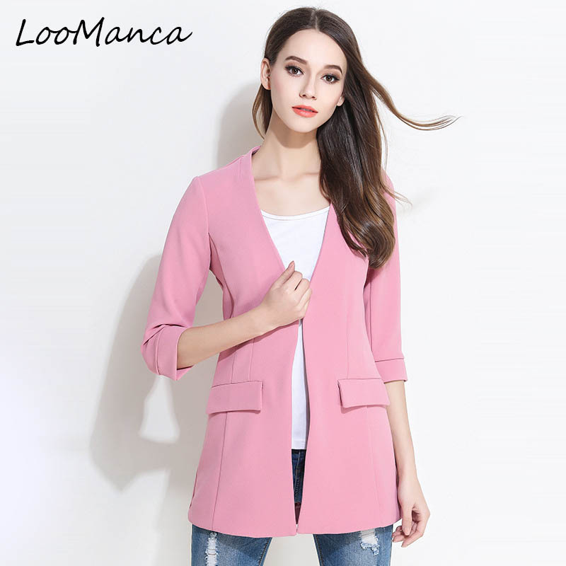 Popular Plus Size Pink Blazer-Buy Cheap Plus Size Pink Blazer lots ...