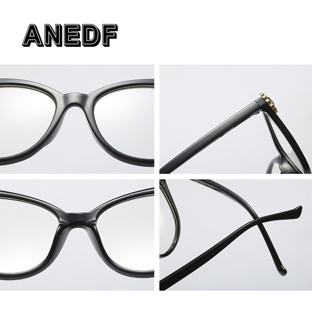 ANEDF Brand Designer Optical Fashion Eyewear Crystal Luxury Glasses Frames Women Rhinestone Cat Eye Computer Glasses New 2018
