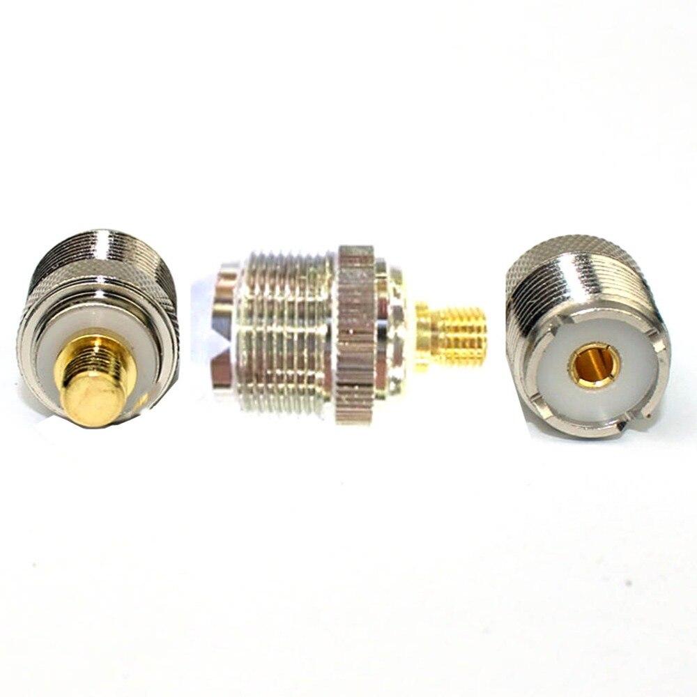 imágenes para 1 unids latón cabeza rf coaxial adaptador para motorola walkie talkie radio de dos vías para p8608 p6620 p6600 xir p8668 b0029