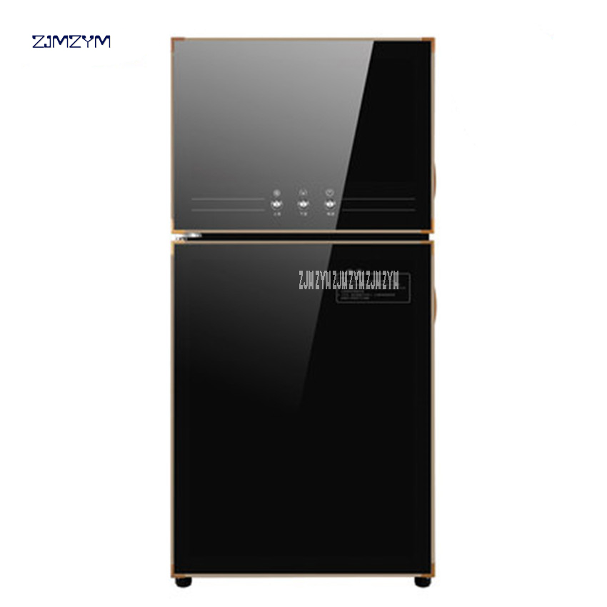 ZTP-70-K1 78LElectronic 2-door disinfection cabinet embedded cabinet infrared ultraviolet disinfection cupboard LED touch screen
