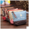 New Cute Canvas Girls Mini Coin Purses Brand Retro Simple Vogue Classic Coin Wallet Case With Zipper