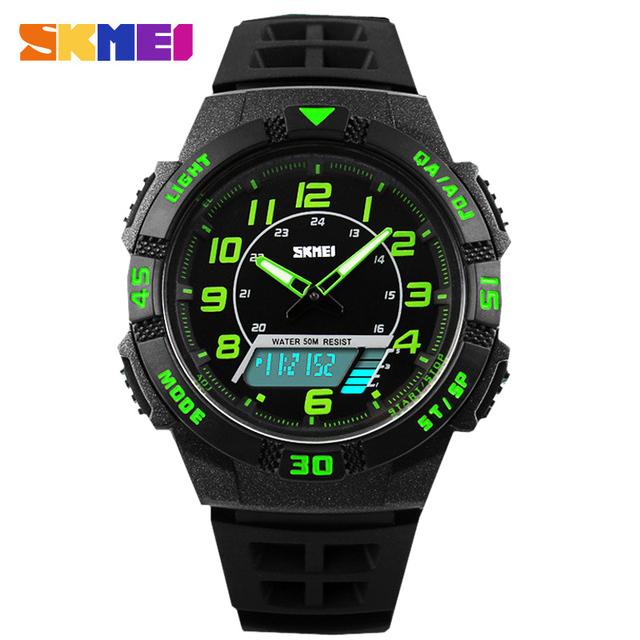 SKMEI Hombres Deporte digital Relojes Hombres Militar de Cuarzo Analógico Digital Reloj de Cuarzo Resistente Al Agua LED Digital Hombres Relojes de Pulsera relogios