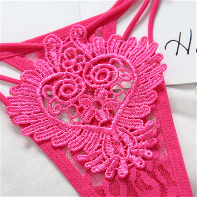 Hollow Out Sexy Underwear Women Embroidery Floral Sexy Panties Female Sexy Lace Lingerie Hot Transparent G Strings Thongs