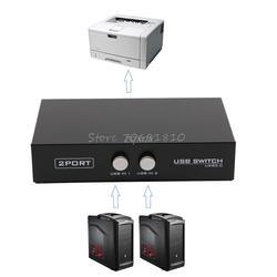 2 Порты USB2.0 обмена переключатель устройства переходник коробка для сканер компьютера принтер Прямая поставка