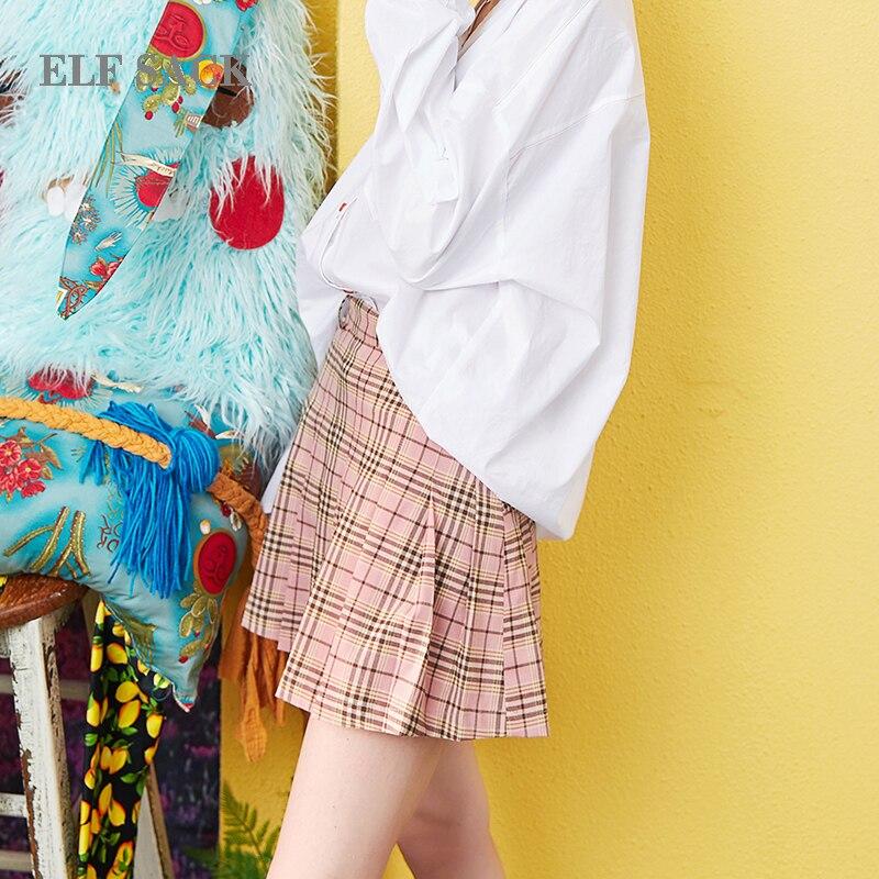 Señoras Delgada Cintura Casual Plaid Verano Bikini Elf Estilo De Línea Faldas Mediados Streetwear Saco Preppy Sólida Mujer q464ZwFI