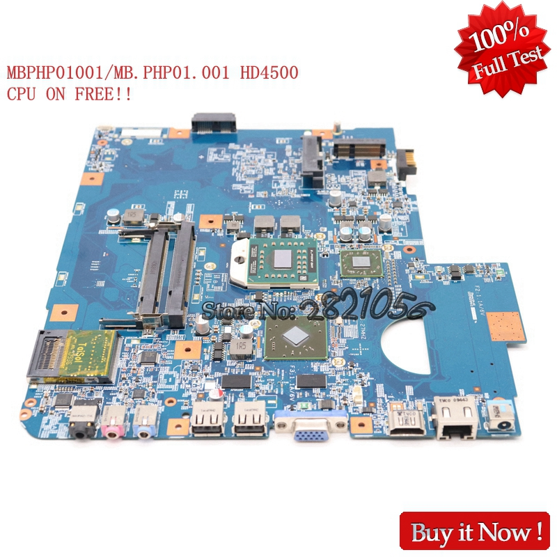 Nokotion Laptop Motherboard 48.4FN01.011 MBPHP01001 MB.PHP01.001 For Acer asipre 5542 5542G HD4500 CPU ON FREE free shipping 10pcs lot fa5542 5542 sop8 offen use laptop p 100
