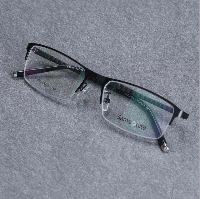 Fashion Men Titanium Alloy Metal Eyeglasses Half- Frame Ultra Light Myopia Glasses Frame