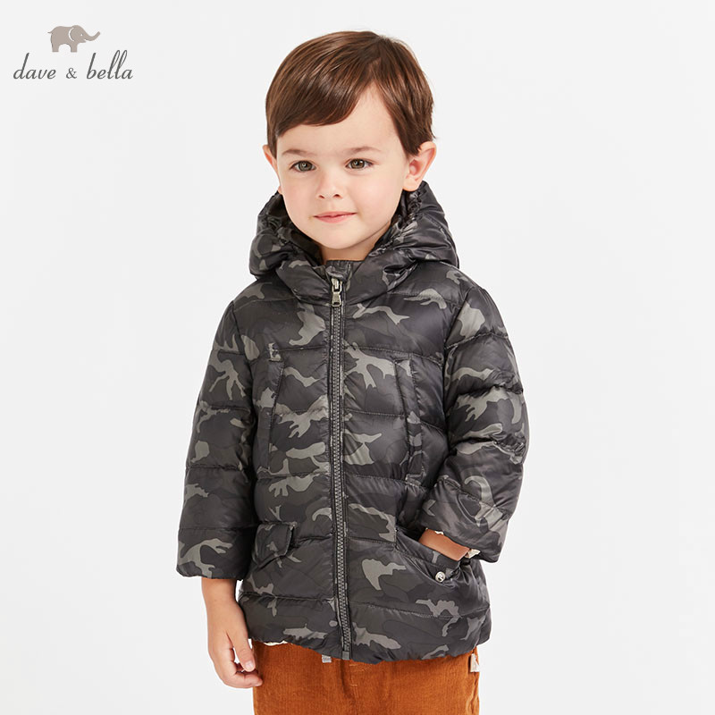 DB8686 dave bella baby boy Down jacket children 90% white duck down camouflage outerwear fashion light down coatDB8686 dave bella baby boy Down jacket children 90% white duck down camouflage outerwear fashion light down coat