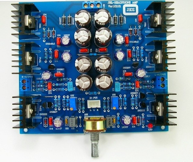 Class A Headphone amplifier board PRE AMP Dual AC12-15V based on JHL HOOD