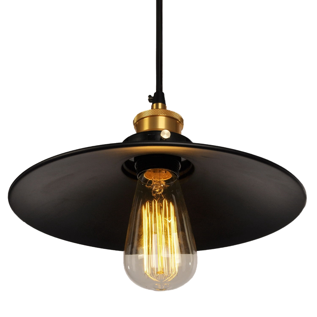 Aliexpress E27 60w Black Shade Garage Metal Light Vintage Retro Lamp Pendant Lighting For Hallway Dining Room From Reliable