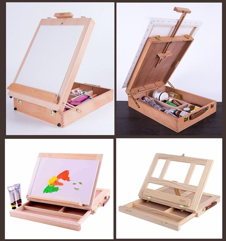 integrada arte desenho pintura a óleo mesa mala de trabalho arte supplie