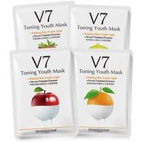 12Pcs BIOAQUA Fruit V7 Toning Youth Facial Mask Moisturizing Oil Control Hydrating Nourishing Face Mask Wrapped Mask Skin Care Face Mask & Treatments