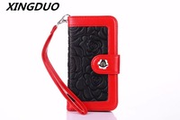 XINGDUO Wallet Case for iphone X XS XR XS MAX High quality PU Leather phone case print flower bag for iphone 5 6 6S 7 8 Plus
