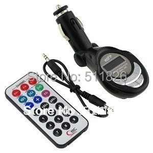 Car kit MP3 Foldable FM Transmitter for SD/MMC/USB/CD FM with remote control support SD card and USB slot free shipping #8098