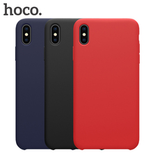 HOCO Original Liquid Silicone Case for iPhone Xs Max iPhone XR 2018 Luxury Gel Rubber Phone Cover for iPhone X XS Coque