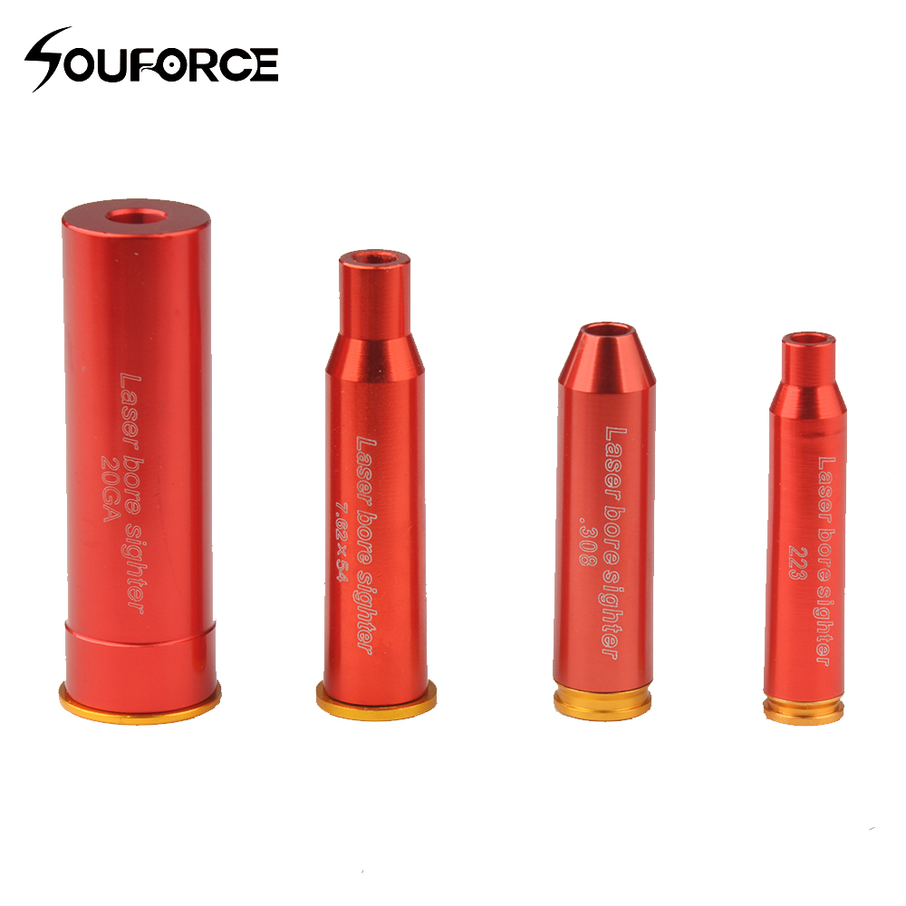 Tactical Red Dot Laser Boresighter CAL.223/20GA/.308/7.62X54R Sighter Cartridge Red Laser Boresighter with Battery