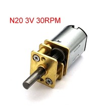 N20 Micro Metal Gear Motor Listrik Gear Box 6 V 60 Rpm/100 Rpm/200 RPM DC 3 V 30 Rpm 3 Mm Diameter Poros(China)