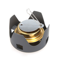New Portable Mini Ultra light Spirit Burner Alcohol Stove Outdoor Backpacking Hiking Camping Furnace with Stand