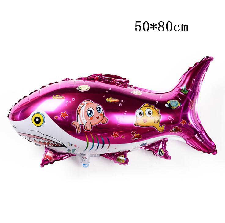1pcs Ocean SHARK ฟอยล์บอลลูนภายใต้ทะเลสัตว์ Globos ฮีเลียม Baby Shower Birthday PARTY Decor ใต้ทะเลธีมงานแต่งงาน supplie