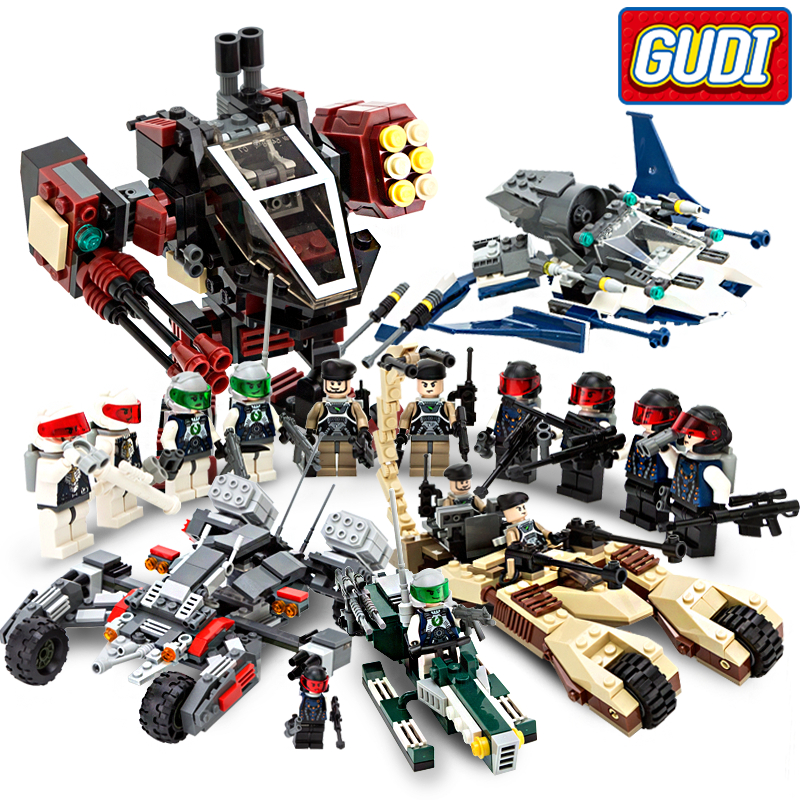 Earth Border Educational Building stacking Blocks Toys For Children Gifts Weapon Robot Star War Hero Compatible With Legoe gudi new toys educational assembled military war weapon vehicle tank plane 8 in 1 plastic building blocks toys for children