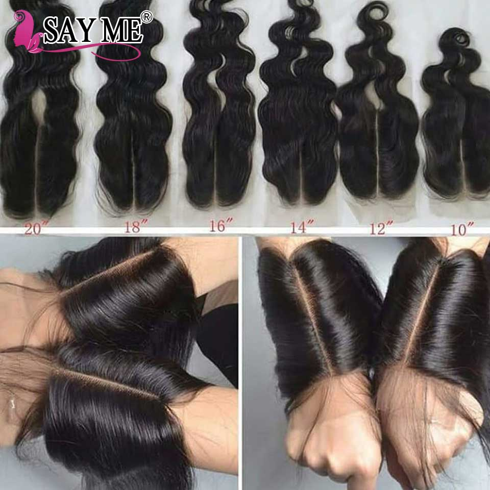 Kim K 2*6 Lace Closure Brazilian Body Wave Closure With Baby Hair Middle Part Hairline Remy Human Hair Closure For Black Women