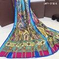 2016 Моды Бандана Роскошные Scarve Женщины Марка Шелковый Шарф Женщины Большой Размер Шали Обруча Высокое Качество Печати Хиджаб 50*180 см