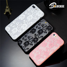 купить HALOCASE Sexy Floral Phone Case For Apple iPhone 7 8 6 6s 5 5s Plus Lace Flower Hard PC Cases Back Cover For iPhone X XR XS Max по цене 121.8 рублей