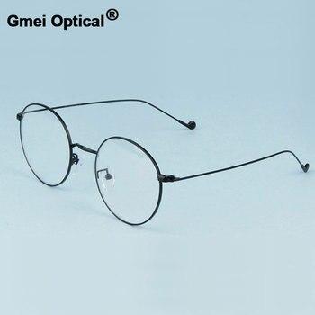 Gmei Ottico Alla Moda Urltra-Light Lega di Occhiali per Le Donne e Gli Uomini di Miopia Lettura di Occhiali Da Vista Frames Rotondo Occhiali A1507