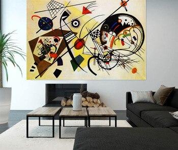 Handmade Wassily Kandinsky Geometric Abstract Modern Art Oil Paintings Art Paintings For Living Room Home Decor