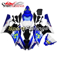 Full Movistar Blue White Fairings For Yamaha 2006 2007 YZF 600 R6 ABS Injection Motorcycle YZF 600 R6 06 07 Complete Cowlings